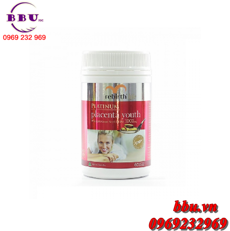 Nhau thai cừu Rebirth Life Platinum Placenta Youth