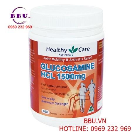 Thuốc hỗ trợ xương khớp Healthy Care Glucosamine HCL 1500mg 400 viên của Úc