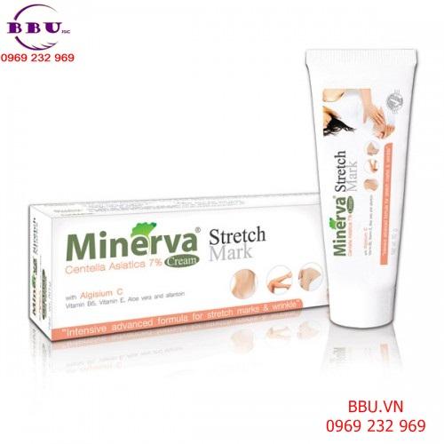 Kem trị  rạn da, nhăn da minerva stretch mark cream