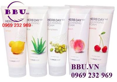 Sữa rửa mặt Herb Day 365 Cleansing Foam