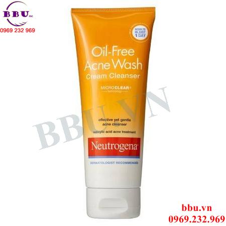 Sữa Rửa Mặt Oil Free Acne Wash Cream Cleanser
