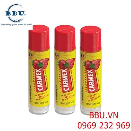 Son dưỡng môi chống nắng Carmex Strawberry  Lip Balm