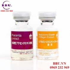 Bộ đôi serum tươi chiết xuất từ Nhau Thai Heo BB lab Placenta & Hyalurone Elastin Collagen 5ml