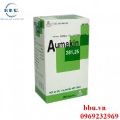 Công dụng Thuốc kháng sinh điều trị viêm xoang, viêm amidan, nhiễm khuẩn đường hô hấp Aumakin 281,25