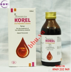 Siro Korel 120ml điều trị thiếu máu, thiếu sắt