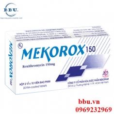 Thuốc kháng sinh điều trị viêm hô hấp, tai, mũi, họng, viêm họng, viêm phế quảng, viêm phổi, viêm xoang Mekorox 150