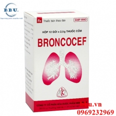 Thuốc kháng sinh điều trị viêm hô hấp, viêm phế quản, viêm khí quản, long đàm, tiêu nhầy Broncocef