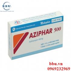 Thuốc kháng sinh điều trị viêm phế quản, viêm phổi, viêm xoang, viêm amidan  Aziphar 500