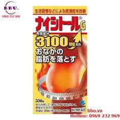 Thuốc uống làm giảm mỡ bụng Naishitoru G 3100 Kobayashi hộp 336 viên của Nhật