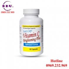 Viên uống làm sáng da Ivory Caps Vitamin C 60 viên