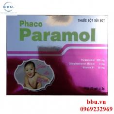 Thuốc giảm đau hạ sốt cho trẻ em paramol