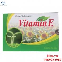 Viên nang vitamin E ngăn chặn lão hóa, lấy lại làn da căng mịn