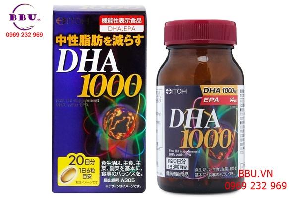Viên uống bổ não DHA 1000mg Nhật Bản