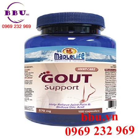Thuốc điều trị bệnh gout support maplelife