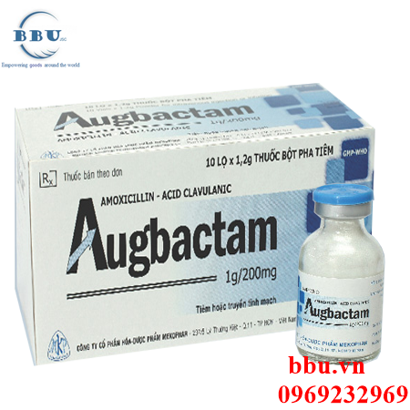 Thuốc kháng sinh điều trị nhiễm khuẩn nha khoa, hô hấp, da, xương khớp, đường tiết niệu Augbactam 1g/200mg