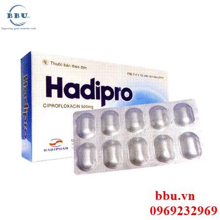 Thuốc kháng sinh Hadipro 500mg