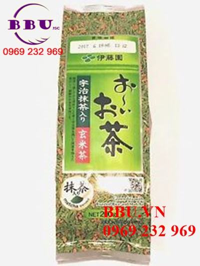 Review Green tea with roasted rice and matcha