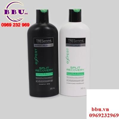 Bộ Đôi Dầu Gội Và Dầu Xả  Chăm Sóc Tóc Tresemme Expert Selection Split Recovery Hair Conditioner 340ml