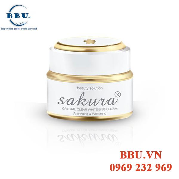 Kem dưỡng trắng da chống lão hóa Sakura Anti-Aging Whitening Cream