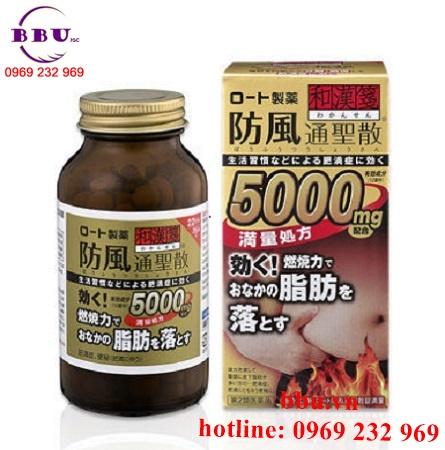 Thuốc uống giảm cân, giảm mỡ bụng Rohto 5000mg