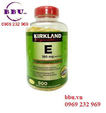 Viên uống Kirkland Signature Vitamin E 180 mg (400 IU) 500 viên