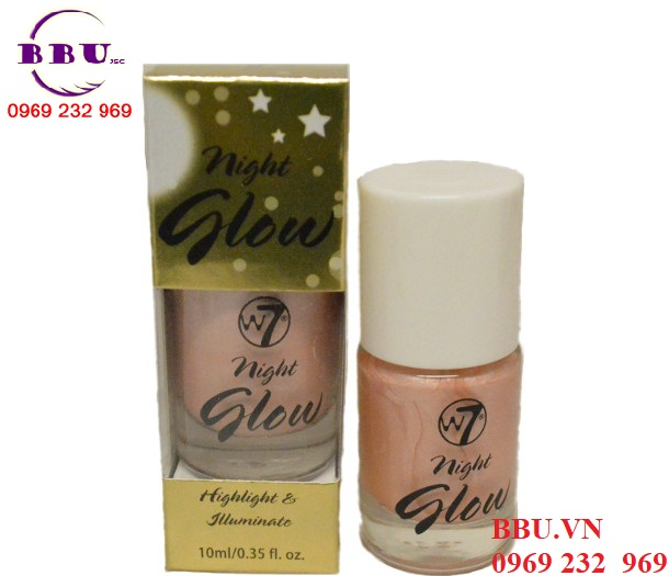 Kem lót nhũ bắt sáng W7 NIGHT GLOW HIGHLIGHT AND ILLUMINATE