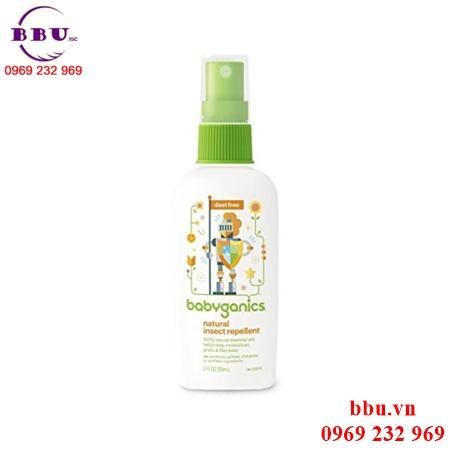Xịt chống côn trùng Babyganics Natural Insect Repellent